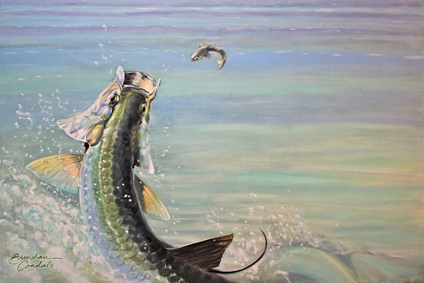 Signed Limited Edition print of this year's tarpon artwork by local artist Brendan Coudal